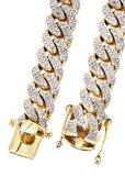 Custom Diamanten Miami Cuban Link Ketting 10-20MM_