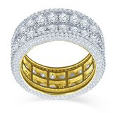 925 Zilveren Iced Out Ring GD - ROYAL_
