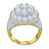 925 Zilveren Iced Out Ring GD - CAKE_