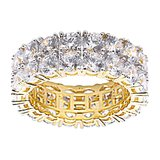925 Zilveren Iced Out Ring GD - TENNIS DOUBLE_
