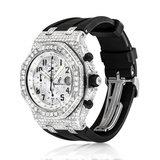 Audemars Piguet Royal Oak Stainless Steel Diamond Watch_