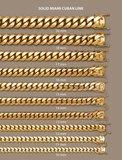 Massieve 14K Gouden Miami Cuban Link ketting 10MM_