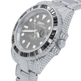 CLOXSTAR Stainless Steel Full Iced Out Watch BM SLV_