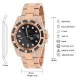 CLOXSTAR Stainless Steel Full Iced Out Watch BM RGD_