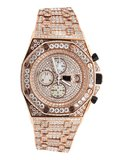 CLOXSTAR MOB Stainless Steel Iced Out Presidential Watch RGD_