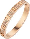 925 Zilveren Iced Out Cartier Stijl Love Armband_