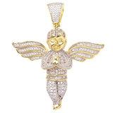 925 Zilveren Iced Out Mini Engel Hanger - GD_