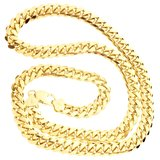 925 Silver Solid Miami Cuban Chain 10 MM_