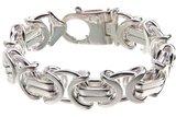 925 Zilveren Konings Armband Plat 17.0 MM_
