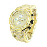 CLOXSTAR MOB Stainless Steel Iced Out Presidential Watch_