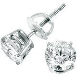 14K Witgouden Diamanten Oorbellen .50ct_