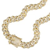 925 Zilveren Iced Out Miami Cuban Link Chain 12 MM_