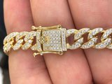 925 Zilveren Iced Out Miami Cuban Link Chain 10 MM_