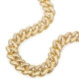 925 Zilveren Iced Out Baguette Cuban Link Chain 18 MM_