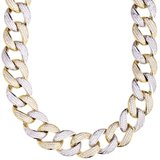 925 Zilveren Iced Out Miami Cuban Link Chain 16 MM_