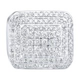 925 Zilveren Iced Out Ring - Dome_