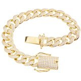 925 Zilveren Iced Out Miami Cuban Link Armband 12 MM - GD_