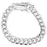 925 Zilveren Iced Out Miami Cuban Link Armband 12 MM S_