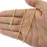 18K Gouden Rope Chain (diamant geslepen)_