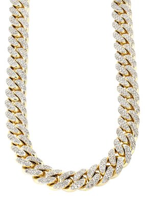Custom Diamanten Miami Cuban Link Ketting 10-20MM