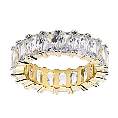 925 Zilveren Iced Out Ring GD - TENNIS