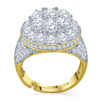 925 Silver Iced Out Ring GD - CAKE