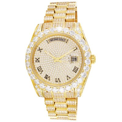 CLOXSTAR Stainless Steel Full Iced Out Watch R GLD
