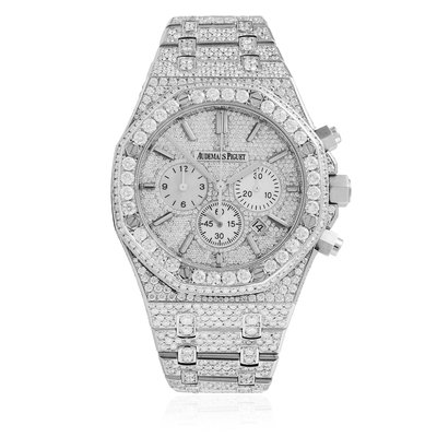 Audemars Piguet Royal Oak Stainless Steel Diamond Watch