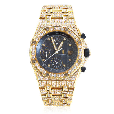 Audemars Piguet Royal Oak 18k Yellow Gold Diamond Watch
