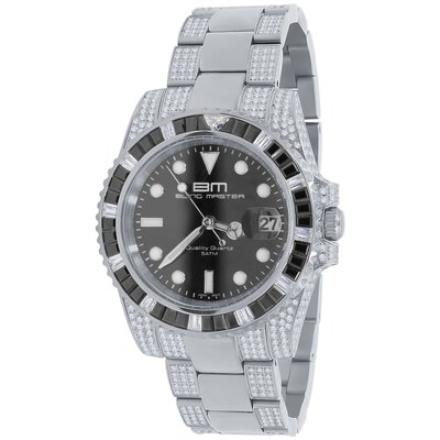 CLOXSTAR Stainless Steel Full Iced Out Watch BM SLV