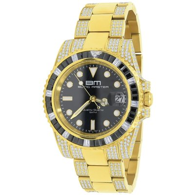 CLOXSTAR Stainless Steel Full Iced Out Watch BM GLD