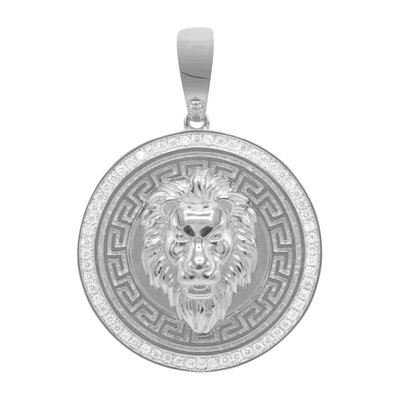 925 STERLING SILVER ICED OUT 3D LION
