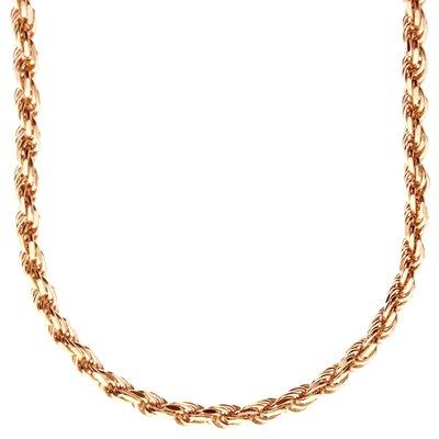 925 Zilveren Rope Chain 4 MM