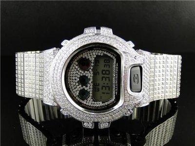 CUSTOM CASIO G-SHOCK WATCH 27.5 CT LAB MADE DIAMONDS