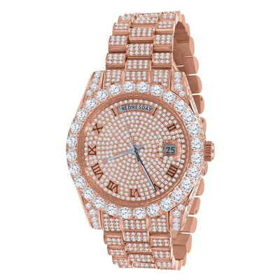 CLOXSTAR Stainless Steel Full Iced Out Watch R ROS