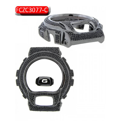 Custom Casio G-Shock Bezel set with 5.0CT Swarovski Crystals