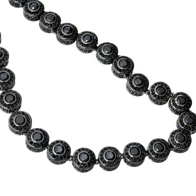 925 Sterling Silver Mirco Pave Chain - 360 STYLE Black