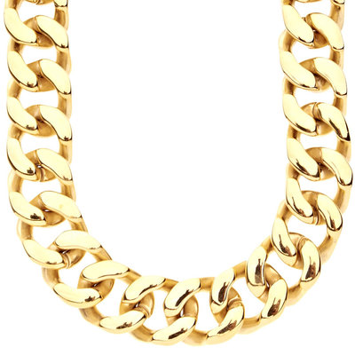Stainless Steel Cuban Link Chain 20mm gold