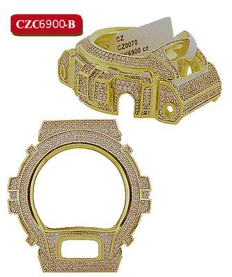 Custom Casio G-Shock Bezel set with 5.0CT Swarovski Crystals