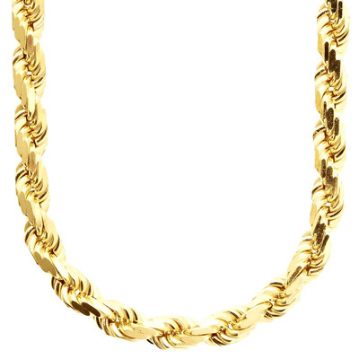 Sterling 925 Gold Plated Rope Chain 8mm
