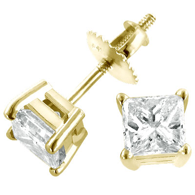 14K Geelgouden Diamanten Oorbellen .50ct