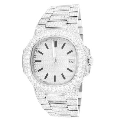 CLOXSTAR MOB Stainless Steel Solitaire Bezel Luxury Watch