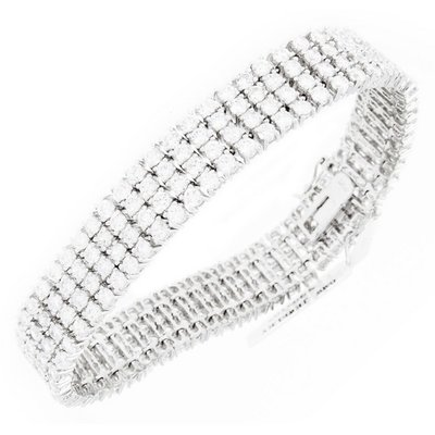 Iced Out Bling High Quality Armband - ALL WHITE