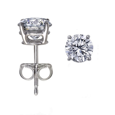 925 Silver Earrings - Round