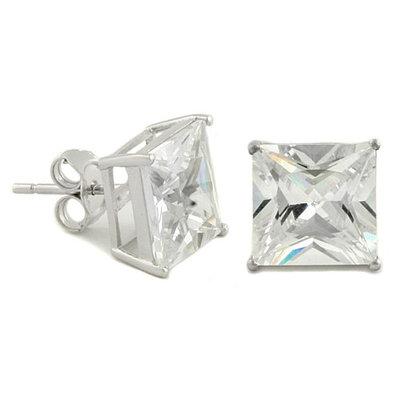 Sterling Zilver Oorbellen - Vierkant