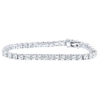 Iced Out 925 Sterling Silver Tennis Bracelet
