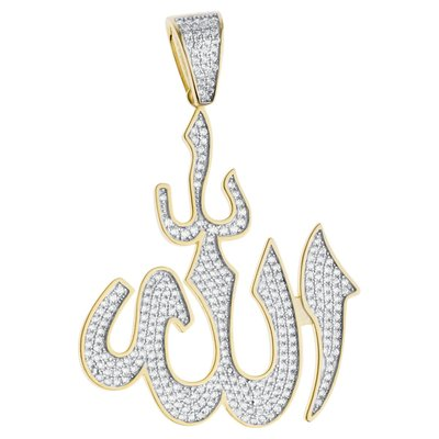 925 Zilveren Iced Out Allah Hanger - GD