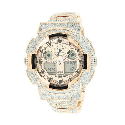 CUSTOM CASIO G-SHOCK WATCH 11.0 CT LAB MADE DIAMONDS