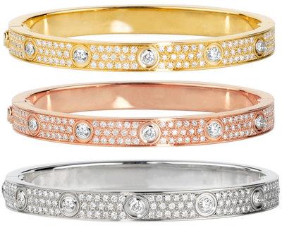 925 Zilveren Iced Out Cartier Stijl Armband