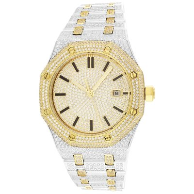 CLOXSTAR Stainless Steel Full Iced Out Watch 2TG
